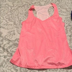 Tops - Pink and White reversible pinny